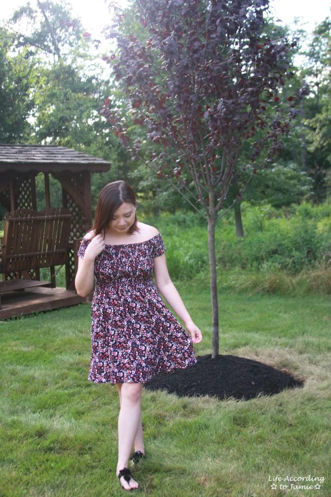 Smocked Floral OTS Dress 5