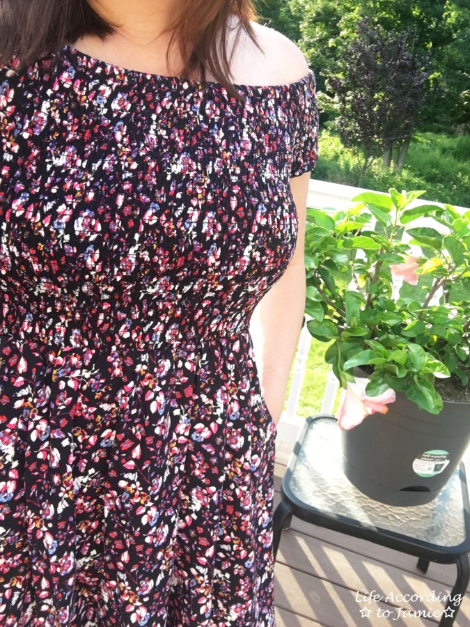 Smocked Floral OTS Dress 7